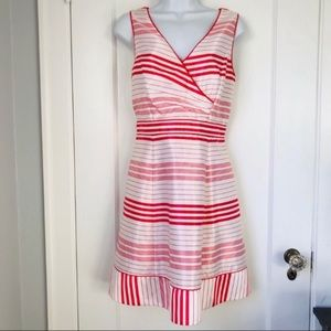 Jessica Simpson Red White Striped Fit Flare Dress